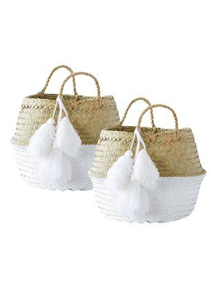 995b525b57 Round Braided Baskets (Set of 2) by Creative Co-Op | khaki multi ...