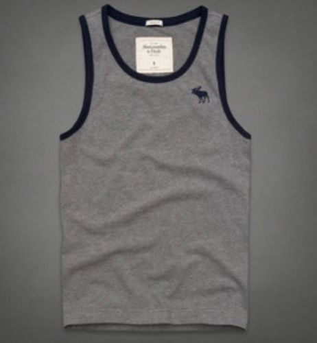 060951b277a5ed Abercrombie and Fitch Mens Tank Top Tahawus Mountain XXL Gray
