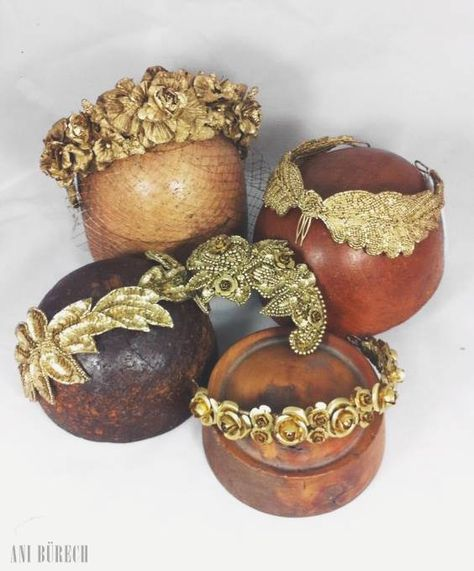 #bridal #headpieces #gold