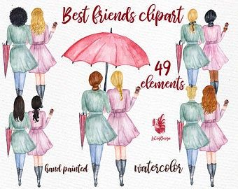 Best Friends Clipart Soul Sisters Clipart Bff Clipart Besties