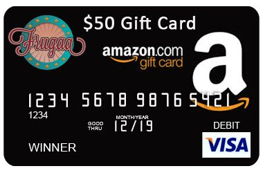Frugaa.com $50 Amazon Visa Gift Card Giveaway! - Real Reviews by ...
