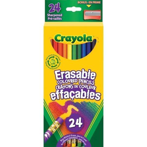 24 Crayola Coloured Pencils Crayola