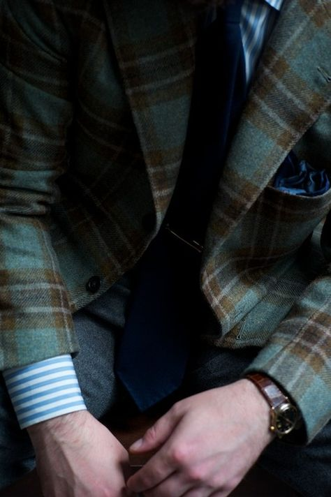 flannel checked winter jacket
