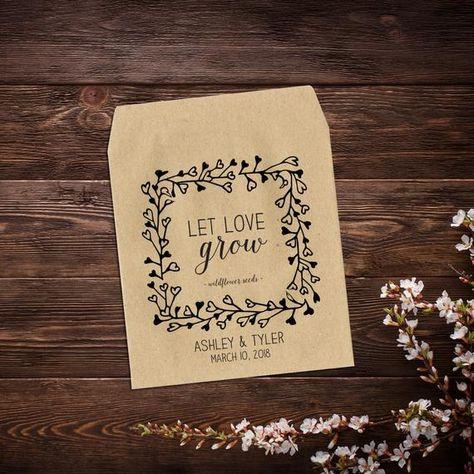 Wedding Favor, Seed Packet, Seed Envelopes, #seedpackets #seedfavors #weddingfavors #weddingseedfavor #letlovegrow #weddingseedpackets #wildflowers #rusticwedding #bohowedding #plantfavor #customseedpackets #seedenvelopes #seedpacketfavor