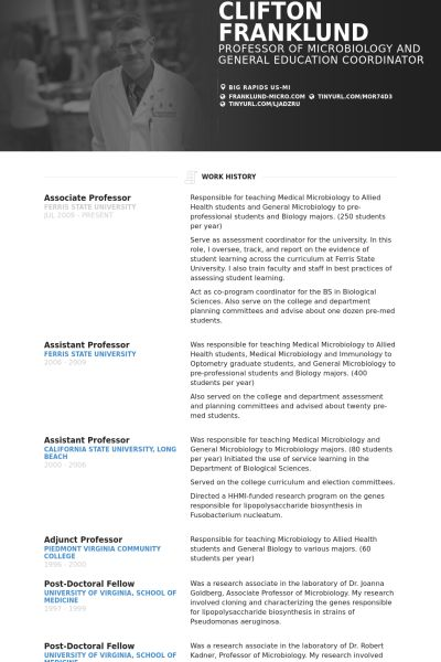 associate professor Resume Example education Pinterest Cv - adjunct professor resume example