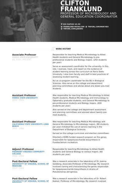 Associate Professor Resume Example Resume Examples Student Resume Template Student Resume