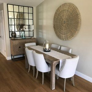 Eagan Large Multipanel Wall Mirror Narrow Dining Tables Dining Table Small Space Pottery Barn Dining Room