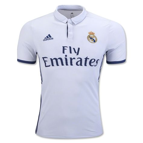 08fd1775c17 adidas Men's Real Madrid 16/17 Authentic Home Jersey Crystal White/Raw  Purple