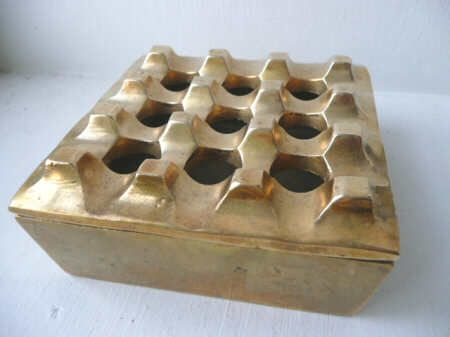Carl Aubock solid  brass ashtray