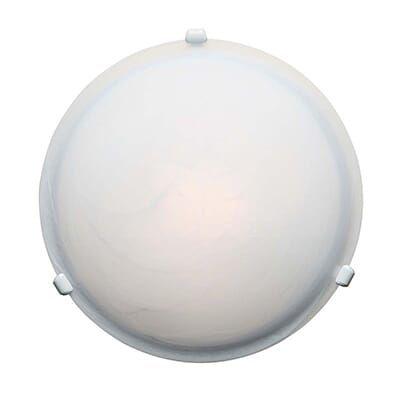 Access Lighting Nimbus 4 Alabaster Glass Flush Mount In White