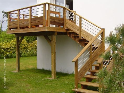 Escalier Extérieur En Bois Traité