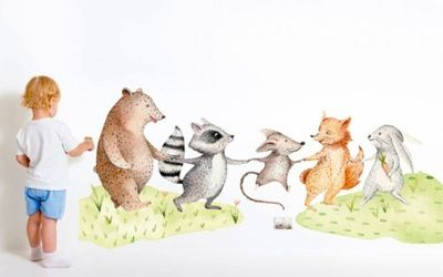 Naklejka Na Sciane Dla Dzieci Lesni Przyjaciele Ii 7818903574 Allegro Pl Dinosaur Stuffed Animal Animals Dinosaur