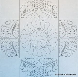 The Quilt Yarn: Freemotion Quilting Friday Nice symmetry.
