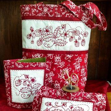 1056 Redwork Machine Embroidery Designs Christmas I