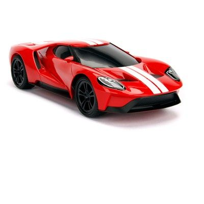 Jada Toys Big Time Muscle Rc 2017 Ford Gt Remote Control Vehicle 1 16 Scale Glossy Red