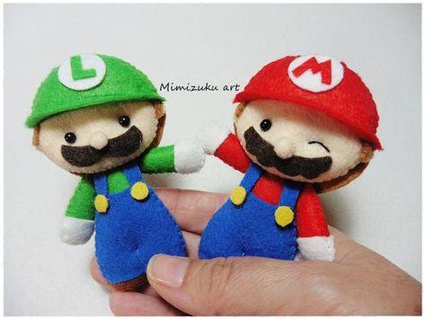 Mario bros felt mobile Mario bros baby mobile baby crib | Etsy