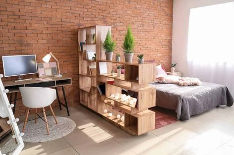 Easy Ways You Can Turn a Studio Apartment into a Tiny Treasure Studio Apartment Furniture, Studio Apartment Layout, Small Apartment Interior, Studio Apartment Decorating, Small Studio Apartment Design, Decorating Studio Apartments, Bachelor Apartment Decor, Apartment Ideas, Bohemian Studio Apartment