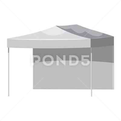 White Canopy Or Tent Vector Illustration Promotional Outdoor Canoby Event Stock Illustration Ad Vector Illustratio White Canopy Vector Illustration Canopy