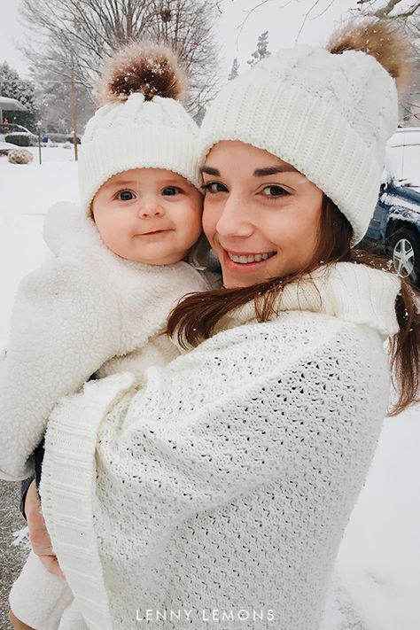b9ca25dd2 Matching Clothes for Family Portrait. Mom + Me Knit Beanie for ...
