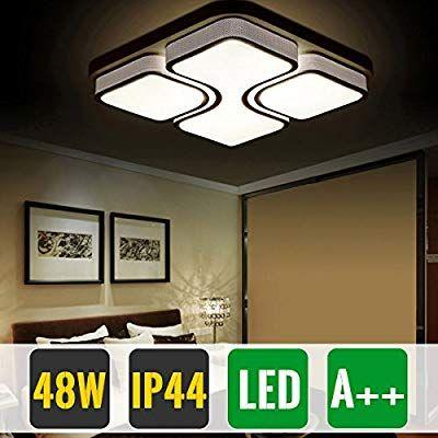 Hg 48w Led Ceiling Light Ceiling Lamp Warm White Modern Living Room Fixture Bedroom Amazon Co Uk Modern White Living Room Ceiling Lamp Led Ceiling