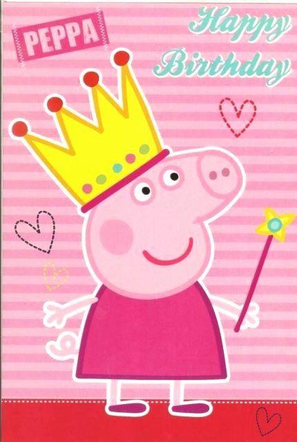 Peppa Pig Birthday Card Beautiful Peppa Pig Happy Birthday Greeting Card Pink Cards Wrap F Peppa Pig Happy Birthday Peppa Pig Birthday Peppa Pig Birthday Party