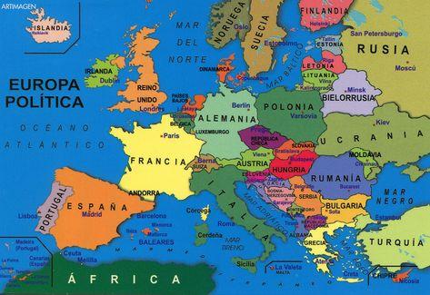 Europa Mapa Politico Mapa De Europa Mapa Politico De Europa Y