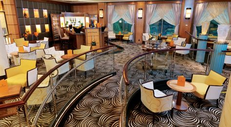 Queen Mary 2 - Pictured is the Champagne Bar