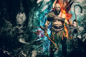 Kratos God Of War 4k Artwork Wallpaper God Of War Images