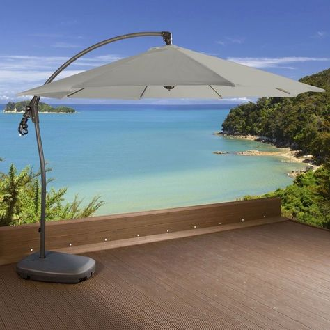 Luxury Garden Grey Cantilever Parasol/Umbrella Rattan 3m Water filled. £299.00 Free Standard Delivery or FREE Click & Collect from your local Argos