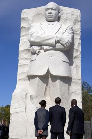 The Martin Luther King Jr Memorial Stands Proudly Between Lasting