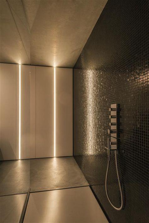 1u Recessed Profile System By Tal Used In Modern Bathroom