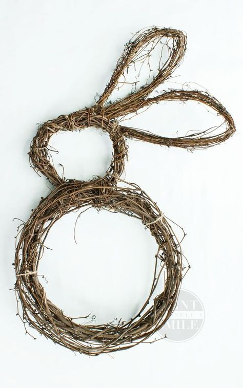 How To Shape The Perfect Bunny Wreath Grape Vines Easter