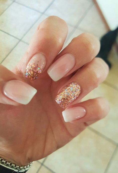 10 Elegant Rose Gold Nail Designs Ecemella Wedding Nails Glitter Rose Gold Nails Design Trendy Nails