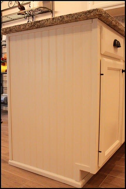 Updating Builder Grade End Cabinets | Store, Kitchens and House