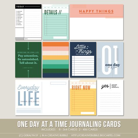 One Day at a Time Journaling Cards (Digital)