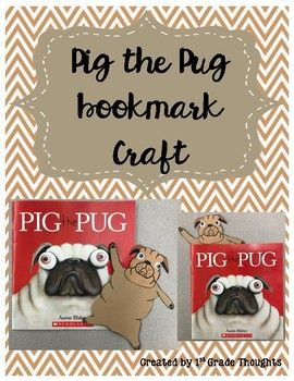 Pig The Pug Bookmark Craft Bookmark Craft Pugs Crafts