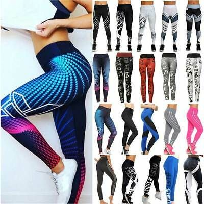 Details About Women Yoga Pants Fitness Compression Leggings Running Gym Exercise Sport Trouser Yoga Pants Sports Trousers Yoga Pants Women