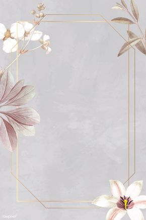 Download Premium Vector Of Frame With Lily And Bulltongue Arrowhead Flower Background Wallpaper Floral Poster Framed Wallpaper