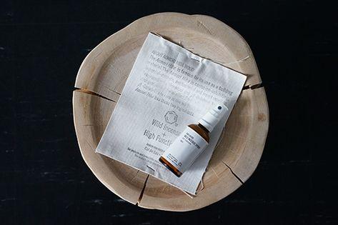 青森ヒバ精油とヒバ水(精油を抽出する際の水蒸気蒸留によって作られる留出水)で作られたインセンススプレー