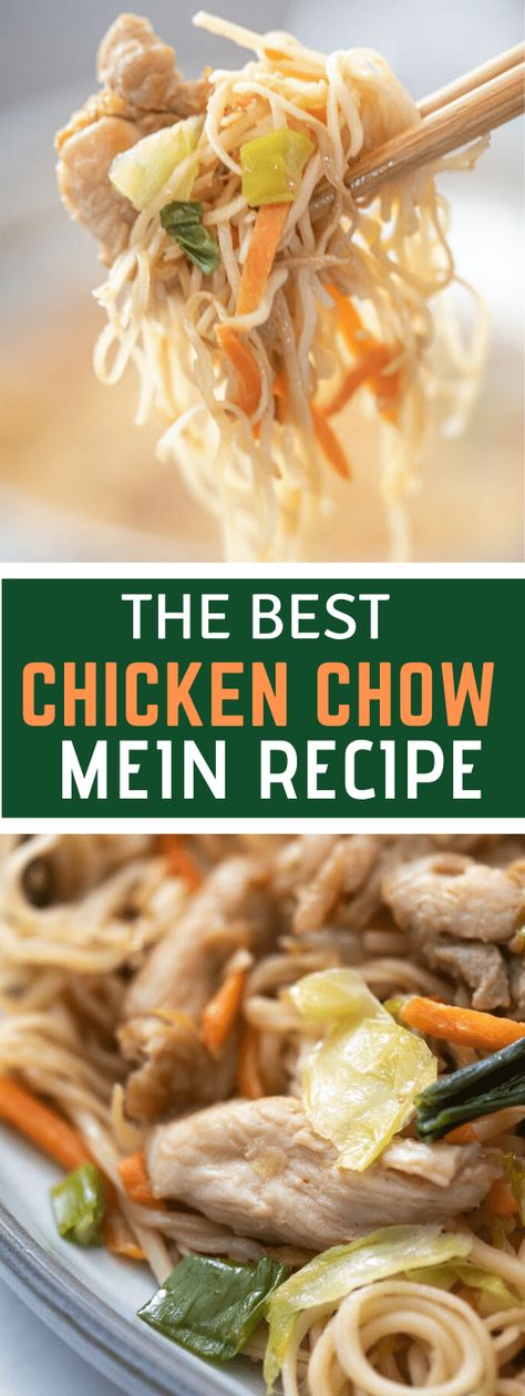This easy chicken chow mein is perfect for anyone who is craving Chinese food but wants to skip out on the heavy oils or less-than-fresh ingredients.#chickenchowmein#chowmeinrecipes #chickenchowmeinrecipes