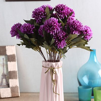 Get up to 36% off on Purple Chrysanthus Flower Bunch With Pot at Wooden Street. #artificialflowers #fakeflowers #plasticflowers #artificialflowersinvase, #artificialflowersonline, #artificialflowerfordecoration , #artificialflowerdecoration
