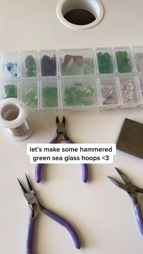How to Make Green Sea Glass Earrings