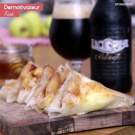 Samoussas au camembert et aux pommes