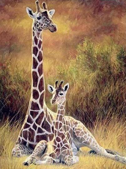Giraffes Digipaintbits Animales Bebes Arte De Jirafas Jirafa De Peluche