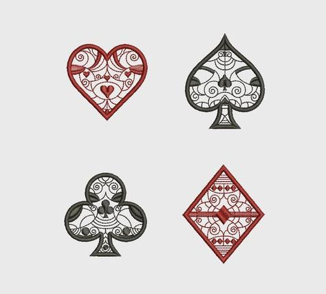 Machine Embroidery Design Ace of Spades