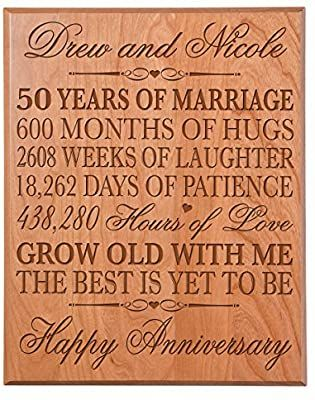 Amazon Com Lifesong Milestones Personalized 50th Wedding Anniversary Wa In 2020 Anniversary Gifts For Parents 20th Anniversary Gifts 10 Year Wedding Anniversary Gift