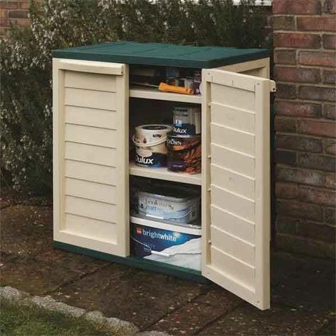 Rowlinsons Garden Plastic Utility Cabinet Plasticgardensheds