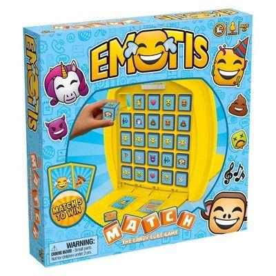 Emotis Top Trumps Match The Crazy Cube Game Trumps Top Emotis Cube Games Top Trumps Games