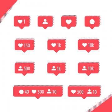 Coleccion De Iconos De Instagram Como Seguidor De Comentarios E Iconos De Notificacion Clipart De La Foto Instagram Me Gusta Png Y Vector Para Descargar Grat Instagram Icons Icon Collection Instagram