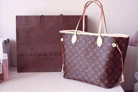 Louis Vuitton Neverfull MM Brown Shoulder Bags #LV #LouisVuitton